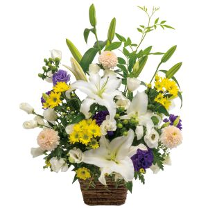 Large Obon(Buddhist memorial service) sympathy arrangement